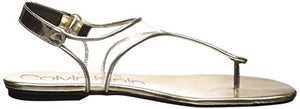 Calvin Klein Women's Shilo Sandal Warm Gold 8 Medium US