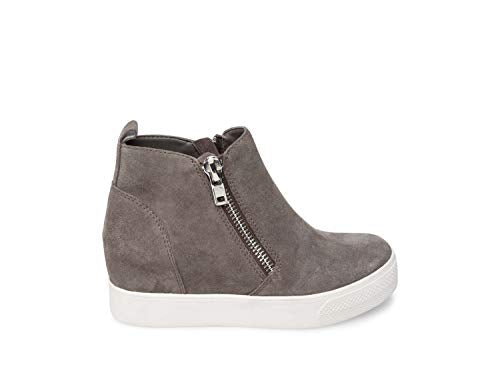 Steve Madden Women's Wedgie Grey Suede Athletic 9.5 US