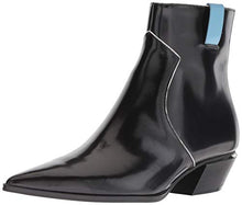 Load image into Gallery viewer, Calvin Klein Women's NANUKA Ankle Boot, Black Leather, 5 M US