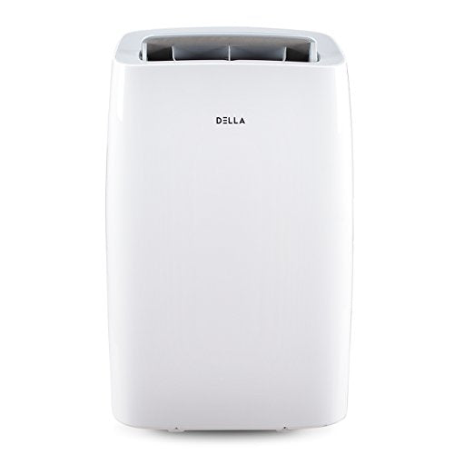 DELLA 12000 BTU Portable Air Conditioner 86 Pint/Day Dehumidifier Fan 24hr Timer Self Evaporation Rooms Up To 550 Sq. Ft. Remote Window Kit Wheels Included