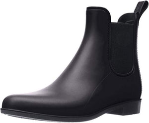 Sam Edelman Women's Tinsley Classic Rain Boot, Black Matte, 9 Wide US