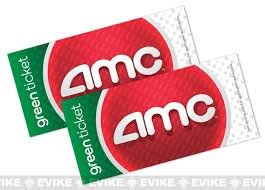 AMC Theater Green Tickets 2 Pack