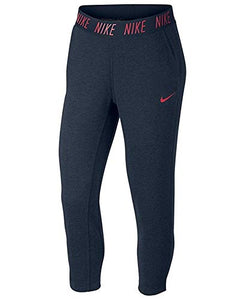 NIKE Womens Dri-Fit Cropped Training Sweatpants Navy M