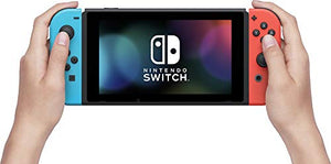 Nintendo Switch 32GB Console Video Games w/ 32GB Memory Card | Neon Red/Neon Blue Joy-Con | 1080p Resolution | 802.11ac WiFi | HDMI | Surround Sound | IR Motion Camera