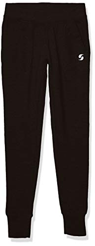 Soffe Girls' Big French Terry Comfy Pant, Black, Medium