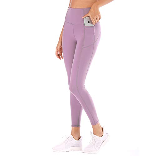 Women High Waist Yoga Pants with Pocket Tummy Control Leggings Gym 4 Way Stretch