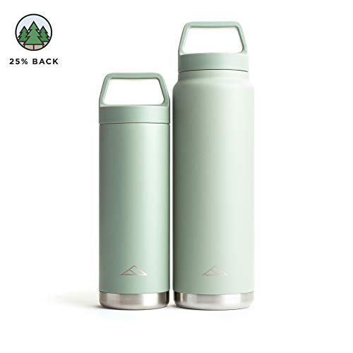 Tillak Metolius (18oz and 32oz) Stainless Steel Bottle, Double Wall, Vacuum Insulated