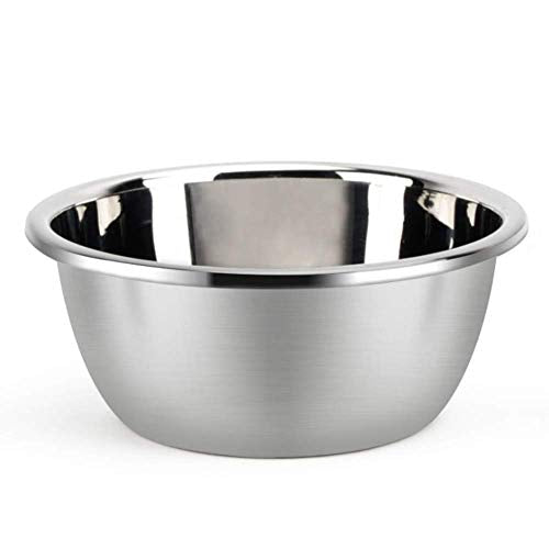 Metal Bowl,Stainless Steel Metal Basin,Deep Heavy Duty Metal Salad Bowl By Erya (9.45inchesx 4.17inches)