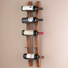 Load image into Gallery viewer, Wine Enthusiast Barrel Stave Wall Wine Rack
