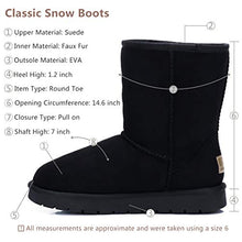 Load image into Gallery viewer, CAMEL CROWN Women's Warm Winter Boots Ankle High Classic Vegan Suede Faux Sheepskin Shearling Snow Boots