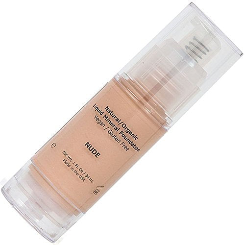 Light Liquid Mineral Foundation, Natural, Organic, Vegan, No Animal Cruelty, Gluten Free