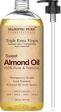 Load image into Gallery viewer, Majestic Pure Sweet Almond Oil, Super Triple A Grade Quality, 100% Pure and Natural