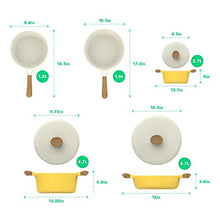 Load image into Gallery viewer, Vremi 8 Piece Ceramic Nonstick Cookware Set - Induction Stovetop Compatible Dishwasher Safe Non Stick Pots and Frying Pans with Lids - Dutch Oven Pot Fry Pan Sets for Serving - PTFE PFOA Free - Yellow