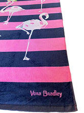 "Load image into Gallery viewer, Vera Bradley Flamingo Fiesta Beach Towel 33"" x 66"""