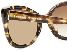 Load image into Gallery viewer, Kate Spade Women's Amaras Cat-Eye Sunglasses,Tortoise,55 mm