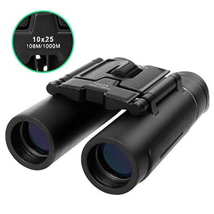 Compact Binoculars for Adults Lightweight & Waterproof 10X25mm
