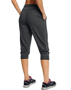 Champion Women's French Terry Jogger Capri, Granite Heather, L
