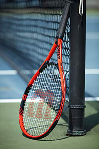 "Wilson Federer Tennis Racket, 4 3/8"" - Red/White"