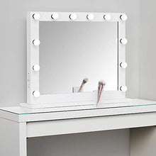 Load image into Gallery viewer, Large Hollywood Vanity Mirror with Lights,Lighted Standing or Wall Makeup Mirror,Side-Mounted Power Outlet USB Port and Dimmer