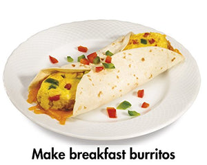Hamilton Beach 25495 Breakfast Burrito Maker, Silver, 9.8 x 8.7 x 5.6 inches
