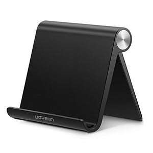 UGREEN Tablet Stand Holder Desk Adjustable Compatible with iPad 9.7 2018, iPad Pro 10.5 Air Mini 2 3 4, Nintendo Switch, Samsung Galaxy Tab S4 S3, E-Reader, iPhone X 8 Plus 6 7 XS Max 6S 5 (Black)