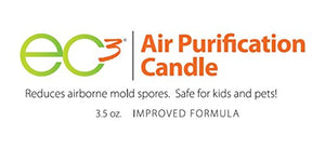 EC3 Air Purification Candle-Decrease Levels of Mold Spores and Mycotoxins, All Natural, Fragrance Free, Botanical Ingredients in Soy Wax