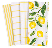Load image into Gallery viewer, KAF Home Pantry Lemons All Over Kitchen Dish Towel Set of 4, 100-Percent Cotton, 18 x 28-inch