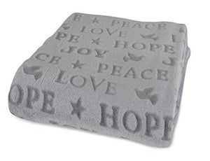 Berkshire Blanket Velvetloft Holiday Throw (Peace Joy Hope)
