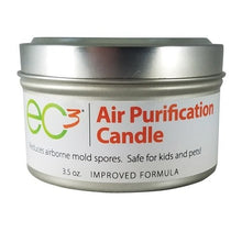 Load image into Gallery viewer, EC3 Air Purification Candle-Decrease Levels of Mold Spores and Mycotoxins, All Natural, Fragrance Free, Botanical Ingredients in Soy Wax