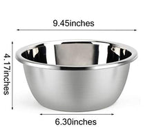 Load image into Gallery viewer, Metal Bowl,Stainless Steel Metal Basin,Deep Heavy Duty Metal Salad Bowl By Erya (9.45inchesx 4.17inches)