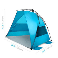 Load image into Gallery viewer, Pacific Breeze Easy Setup Beach Tent (Pacific Breeze Easy Setup Beach Tent)