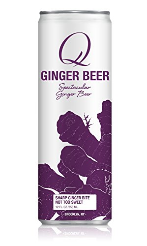 Q Mixers, Q Ginger Beer Spectacular Ginger Beer, 12 Fl Oz Slim Can (Pack of 12)