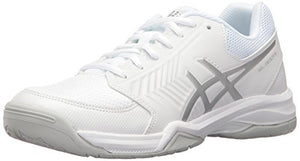 ASICS Gel-Dedicate 5 Women's Tennis Shoe, White/Silver, 7 M US