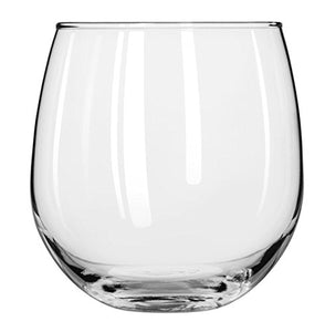 Libbey Stemless 12-Piece Wine Glass Party Set for Red and White Wines