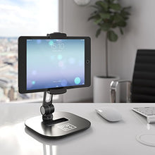 "Load image into Gallery viewer, Tablet Stands and Holders Adjustable: Pwr Stylish Tablet Cell Phone Holder 360 Degree Swivel Angle Rotation for 4-11"" Tab Phone iPad Samsung Galaxy Perfect POS Kitchen Bedside Office Table Reception"