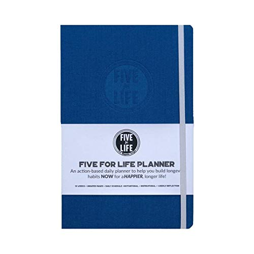 Five for Life Planner/Journal|Healthy Aging | Building Habits of a HAPPIER Life | Daily Guide| Longevity Plan | Gratitude Journal |Gift for Parents and Grandparents