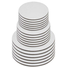 Load image into Gallery viewer, Upper Midland Products Cake Boards - Set of 18 White Cake circle bases - 6 inches, 8 inches, and 10 inches, 6 of Each(18)
