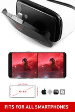 "Load image into Gallery viewer, VR Headset - Virtual Reality Goggles by VR WEAR 3D VR Glasses for iPhone 6/7/8/Plus/X & S6/S7/S8/Note and Other Android Smartphones with 4.5-6.5"" Screens - Infinity"