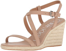 Load image into Gallery viewer, Calvin Klein Women's Bellemine Espadrille Wedge Sandal, Desert Sand, 6 Medium US
