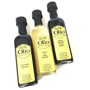 Olio Gift Set of Olive Oils & Balsamic Vinegar | 6 Bottle Pack of Flavored Extra Virgin Olive Oil Cooking Essentials | Top Infused Gourmet Finishing for Meals, Salad, Meat, Vegetables, Dip & Marinade