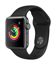 Load image into Gallery viewer, Apple Watch Series 3 (GPS, 38mm) - Space Gray Aluminium Case with Black Sport Band