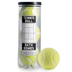 Tennis Ball Bath Bombs - 3 pack - Large, 6 oz Scented Bath Bomb Fizzies - Great Gift for Players, Women, Girls, Birthdays, Coaches, Opponents, Doubles Partners, High School Tennis, Women Leagues