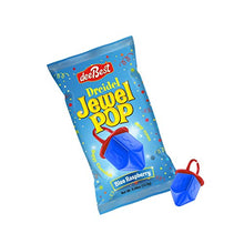 Load image into Gallery viewer, Dee Best Dreidel Jewel Pop Ring Shape Candy - Blue Raspberry 18 Count Individually Wrapped