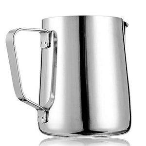 X-Chef Frothing Pitcher Stainless Steel Milk Pitcher 12 oz (350 ml)