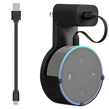 Load image into Gallery viewer, GMYLE Echo Dot 2 Wall Mount Hanger Holder Stand Amazon Alexa Echo Dot 2nd Generation Without Mess Wires Or Screws, Dot Accessories, Compact Holder Case Plug in Kitchens, Bathroom And Bedroom (2 Packs)