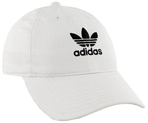 adidas Women's Originals Relaxed Adjustable Strapback Cap, White/Black, One Size