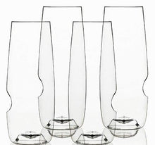 Load image into Gallery viewer, Govino 8 Ounce Dishwasher Safe Series Flute Glasses,Champagne Set of 4