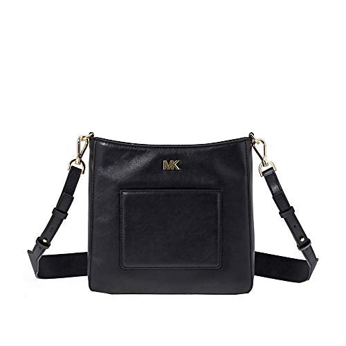 Michael Kors Gloria Leather Messenger BLACK