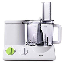 Load image into Gallery viewer, Braun FP3020 12 Cup Food Processor Ultra Quiet Powerful motor, includes 7 Attachment Blades + Chopper and Citrus Juicer , Made in Europe with German Engineering
