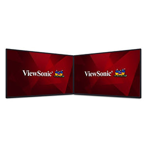 "ViewSonic VP2468_H2 PRO 24"" Dual Pack Head-Only 1080p Monitors with 100% sRGB Rec709 14-bit 3D LUT for Photography and Graphic Design"